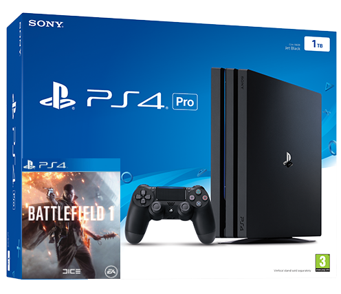 Sony Playstation 4 PRO 1TB + Battlefield 1 (PS4) Фотография 0