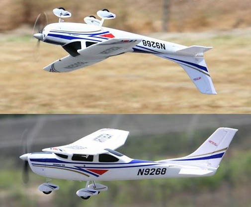 Модель самолета FMS Cessna 182-AT Blue New Version Фотография 2