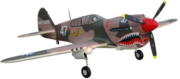 Модель самолета FMS Mini Curtiss P-40 Warhawk c 3-х осевым гироскопом Фотография 3