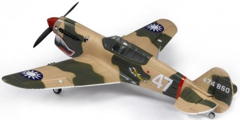 Модель самолета FMS Mini Curtiss P-40 Warhawk c 3-х осевым гироскопом Фотография 1
