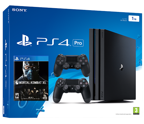 Sony Playstation 4 PRO 1TB с двумя джойстиками + Mortal Kombat XL (PS4) Фотография 0