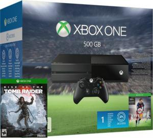 Xbox One 500Gb + FIFA 16 + Rise of the Tomb Raider