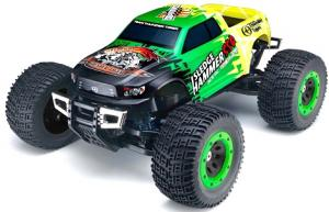 Машинка на радиоуправлении Thunder Tiger MTA-4 Sledge Hammer S50. Nitro PRO Monster Truck 1/8 558 мм 4WD 2.4GHz RTR Green