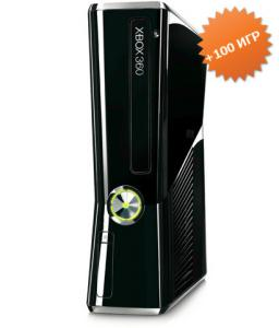 Microsoft Xbox 360 Slim 500Gb (FREEBOOT + прошивка LT+ 3.0) + 100 игр