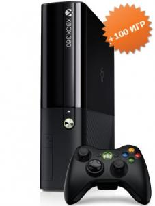 Microsoft Xbox 360 E Slim 500Gb (Freeboot + LT+ 3.0) + 100 игр
