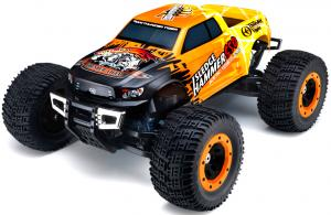 Машинка на радиоуправлении Thunder Tiger MTA-4 Sledge Hammer S50. Nitro PRO Monster Truck 1/8 558 мм 4WD 2.4GHz RTR Orange
