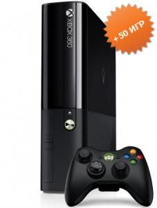 Microsoft Xbox 360 E Slim 250Gb (FREEBOOT + прошивка LT+ 3.0) + 50 игр