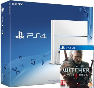 PS4 White + The Witcher 3: Wild Hunt