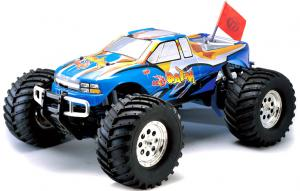 Машинка на радиоуправлении Thunder Tiger MTA-4 S28 Nitro PRO Monster 1/8 558 мм 4WD 2.4GHz RTR Blue