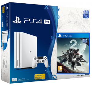 Sony Playstation PRO Glacier White 1TB + игра Destiny 2 (PS4)