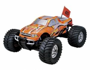 Машинка на радиоуправлении Thunder Tiger MTA-4 S28 Nitro PRO Monster 1/8 558 мм 4WD 2.4GHz RTR Orange