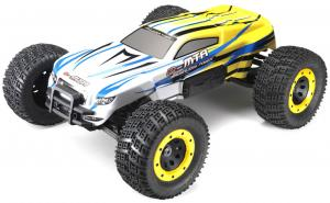 Машинка на радиоуправлении Thunder Tiger eMTA Brushless Monster 1/8 620 мм 4WD 2.4GHz RTR Yellow