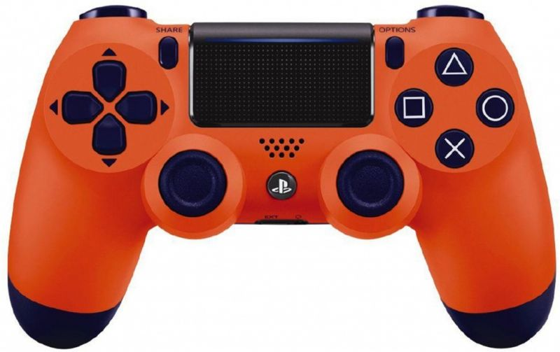 Джойстик Sony Dualshock 4 V.2 Sunset Orange Фотография 0