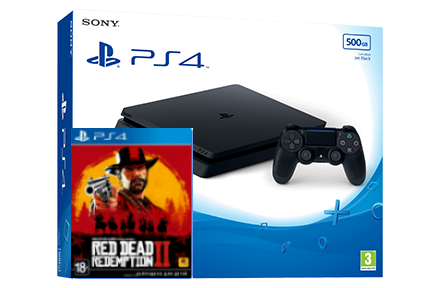 Sony Playstation 4 Slim + игра Red Dead Redemption 2 (PS4) Фотография 0