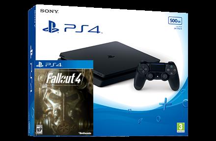 Sony Playstation 4 Slim + игра Fallout 4 (PS4)  Цена, купить