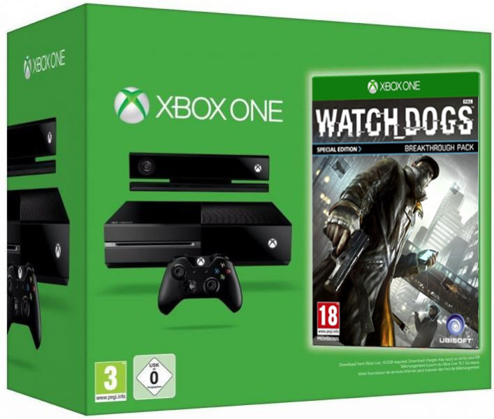 Microsoft Xbox One + Watch Dogs Фотография 0