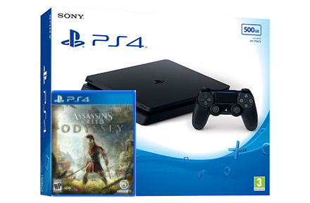 Sony Playstation 4 Slim + игра Assassin's Creed Odyssey (PS4) Фотография 0