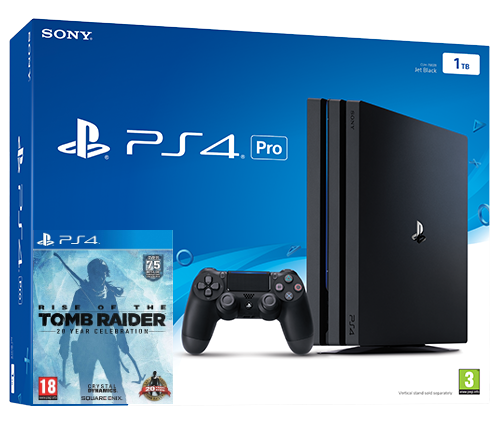 Sony Playstation 4 PRO 1TB + Rise of The Tomb Raider (PS4) Фотография 0