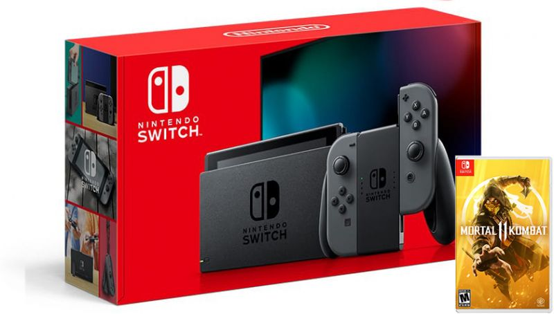 Nintendo Switch Gray HAC-001(-01) + Mortal Kombat 11 (Nintendo Switch) Фотография 0