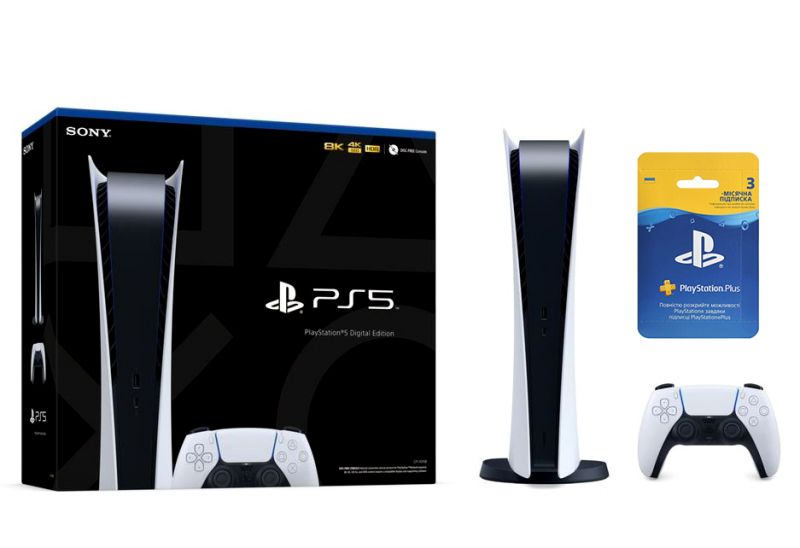 Sony PlayStation 5 Digital Edition SSD 825GB + Подписка PlayStation Plus (3 мес.) Фотография 0