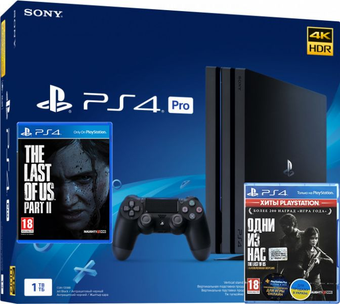 Sony PlayStation 4 Pro 1TB + The Last of Us + The Last of Us Part II Фотография 0