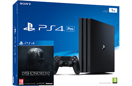 Sony Playstation 4 PRO 1TB + игра Dishonored 2 (PS4) Фотография 0