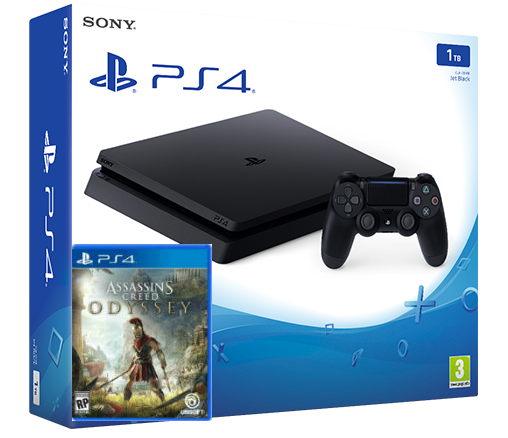 Sony Playstation 4 Slim 1TB + игра Assassin's Creed Odyssey (PS4) Фотография 0