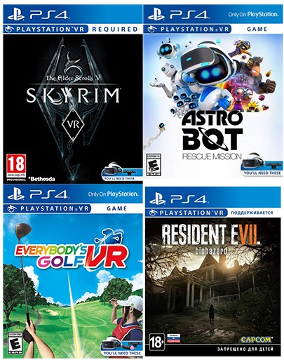 Resident Evil VII Biohazard + Everybodys Golf VR + The Elder Scrolls V: Skyrim + Astro Bot VR (код на скачивание) Фотография 0