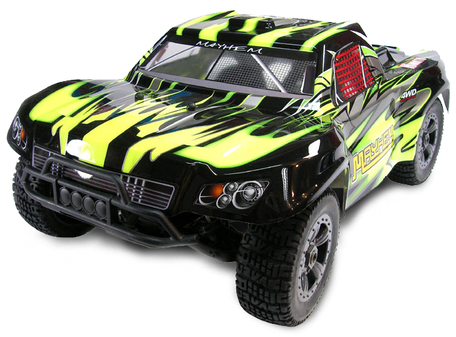 Шорт 1:8 Himoto Mayhem MegaE8SCL Brushless (зеленый) Фотография 0