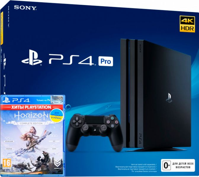 Sony PlayStation 4 Pro 1TB + Horizon Zero Dawn Complete Edition (PS4)  Фотография 0