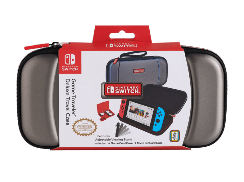 Чехол для Nintendo Switch Game Traveler Deluxe Travel Case Silver Фотография 0