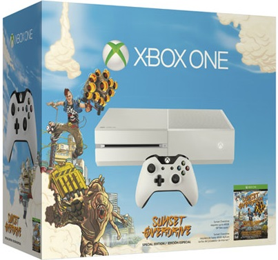 Microsoft Xbox One White (без Kinect 2) + Sunset Overdrive Фотография 0