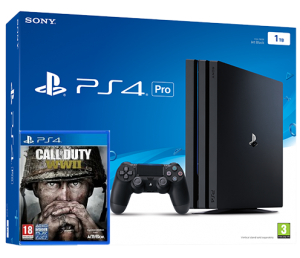 Sony Playstation PRO 1TB  + Call of Duty: WWII (PS4)