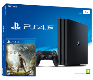 Sony Playstation 4 PRO 1TB + игра Assassin's Creed Odyssey (PS4)