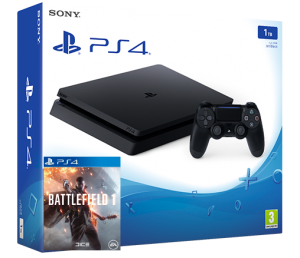 Sony Playstation 4 Slim 1TB + игра Battlefield 1 (PS4)