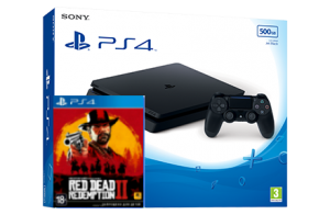 Sony Playstation 4 Slim + игра Red Dead Redemption 2 (PS4)