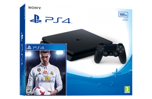 Sony Playstation 4 Slim + игра FIFA 18 (PS4)