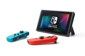 Nintendo Switch Neon Blue / Red HAC-001(-01) + Mario Kart Live: Home Circuit - Mario Set (Nintendo Switch) Thumbnail 1