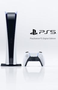 Sony PlayStation 5 Digital Edition SSD 825GB с двумя джойстиками + DualSense charging station Thumbnail 4