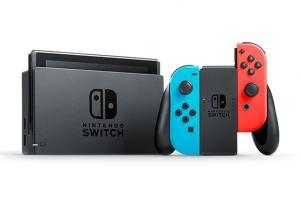 Nintendo Switch Neon Blue / Red + Super Mario Odyssey (Nintendo Switch) Thumbnail 3