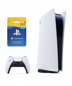 Sony PlayStation 5 Digital Edition SSD 825GB + Подписка PlayStation Plus (3 мес.) Thumbnail 1