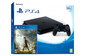Sony Playstation 4 Slim + игра Assassin's Creed Odyssey (PS4)