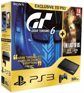 Sony PlayStation 3 Super Slim 500GB (CECH-4208C) + игры: Gran Turismo 6 + The Last of Us (692.17)