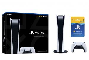 Sony PlayStation 5 Digital Edition SSD 825GB + Подписка PlayStation Plus (3 мес.) Thumbnail 0