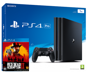 Sony Playstation 4 PRO 1TB + игра Red Dead Redemption 2 (PS4)