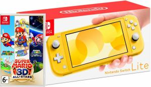 Nintendo Switch Lite Yellow + Super Mario 3D All-Stars Thumbnail 0