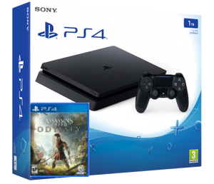 Sony Playstation 4 Slim 1TB + игра Assassin's Creed Odyssey (PS4)