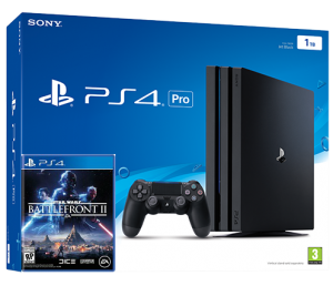 Sony Playstation 4 PRO 1TB + игра Star Wars: Battlefront II (PS4)
