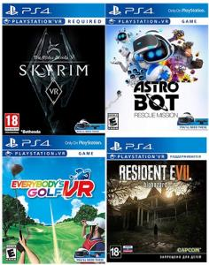Resident Evil VII Biohazard + Everybodys Golf VR + The Elder Scrolls V: Skyrim + Astro Bot VR (код на скачивание) Thumbnail 0
