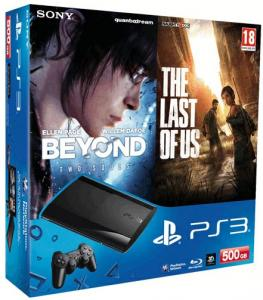 Sony PlayStation 3 Super Slim 500GB (CECH-4208C) + игры: The Last of Us + Beyond: Two Souls + Starhawk (692.14)
